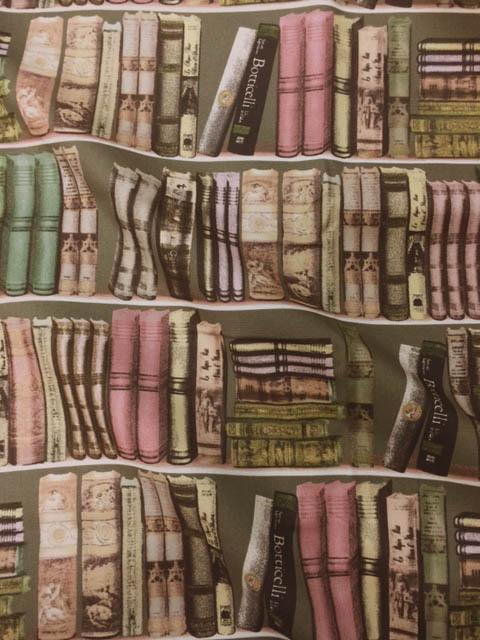 画像1: 【オックス】1段約10cm続けてカット★New本棚柄 ブックシェルフ 生地 本 辞書