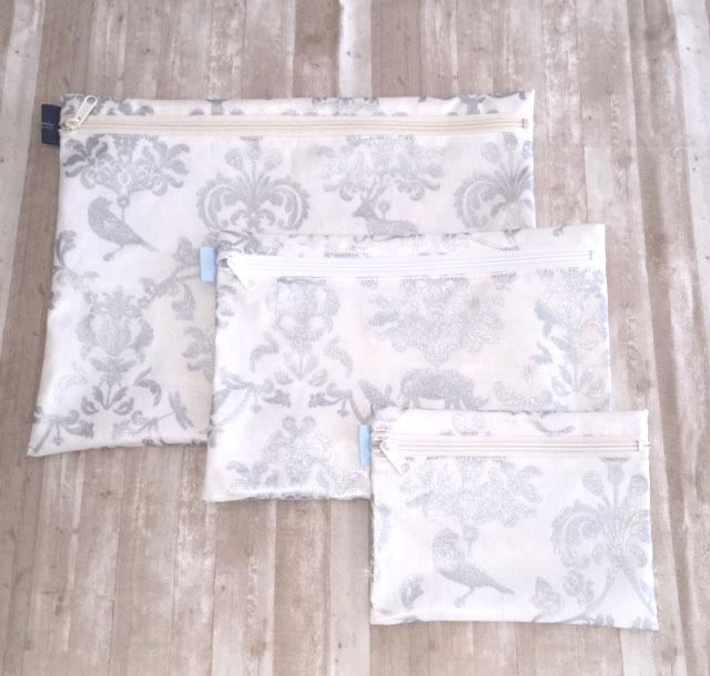 画像1: 【型紙】ラミネートで作るフラットポーチ(3サイズ)
