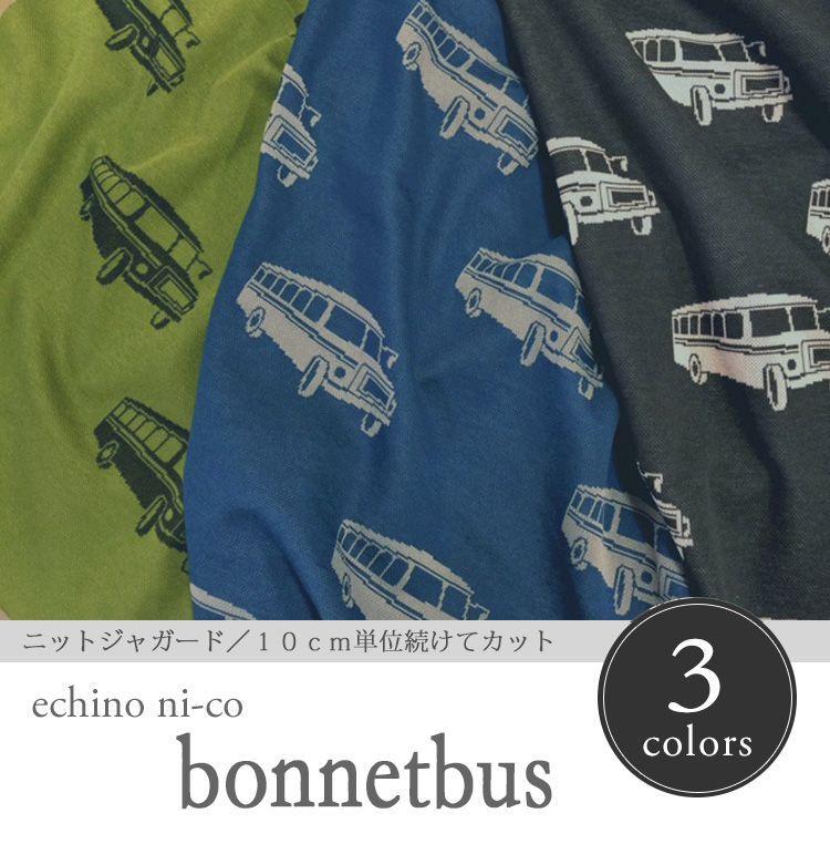 画像1: 【ニットジャガード】エチノ ニコ2016 ボンネットバス echino ni-co 2016 bonnetbus