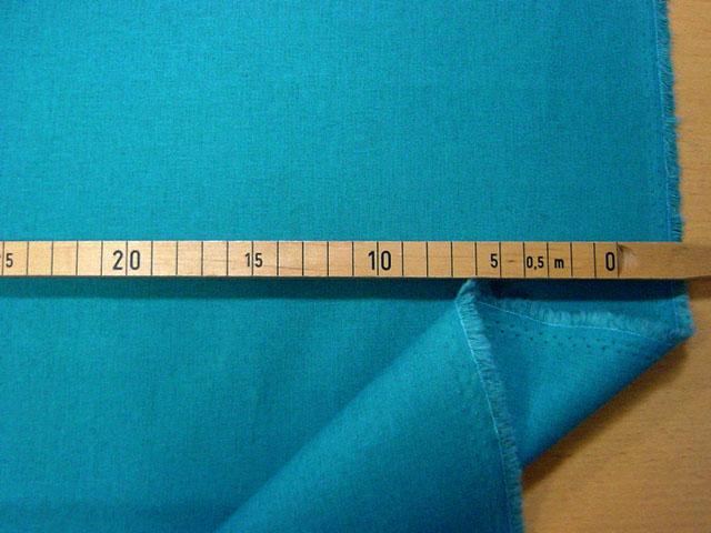 画像1: 【綿麻キャンバス】12120■約28cmハギレ echino solid 無地 濃い水色  エチノ