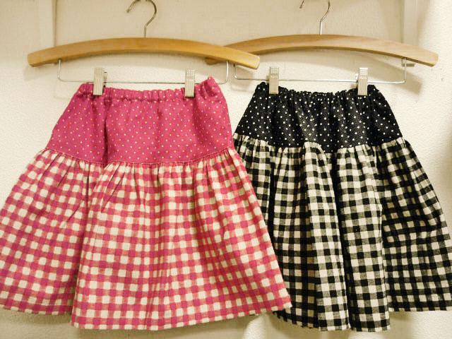 画像1: 【作図】ゴムギャザースカート(110〜140cm対応)