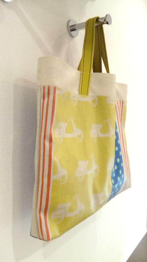 画像2: 【型紙】ラミネートで作る★ファスナー付きレッスンバッグ