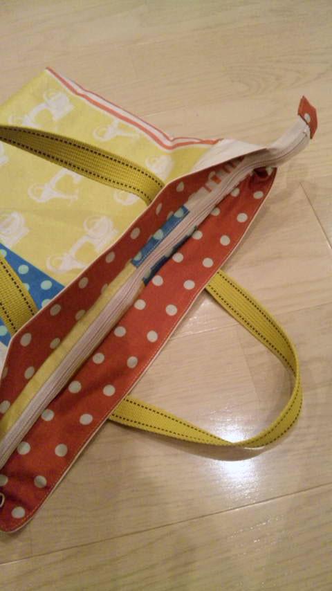 画像4: 【型紙】ラミネートで作る★ファスナー付きレッスンバッグ
