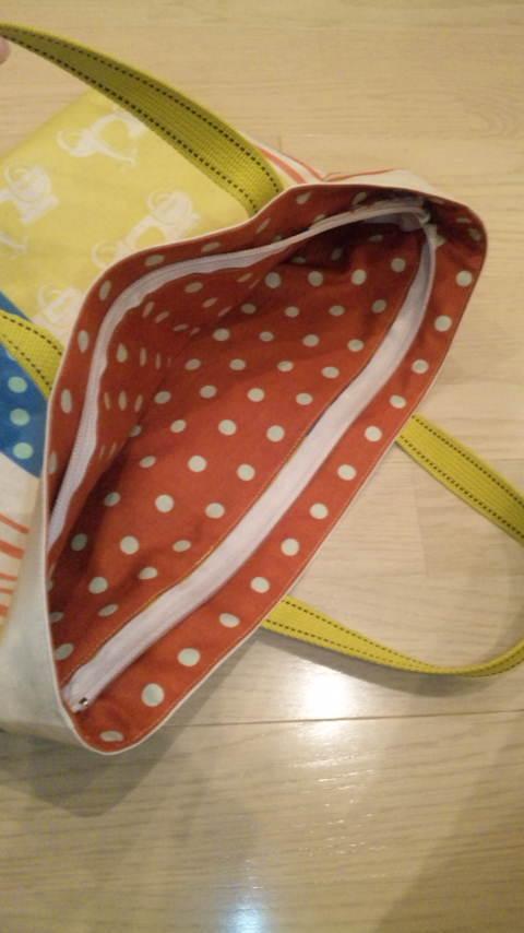 画像3: 【型紙】ラミネートで作る★ファスナー付きレッスンバッグ