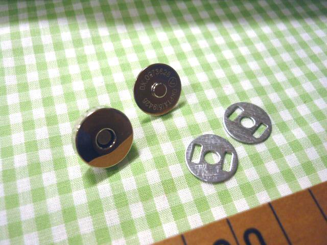画像3: 【10個セット】マグネットボタン 15mm 2色よりお選び下さい。