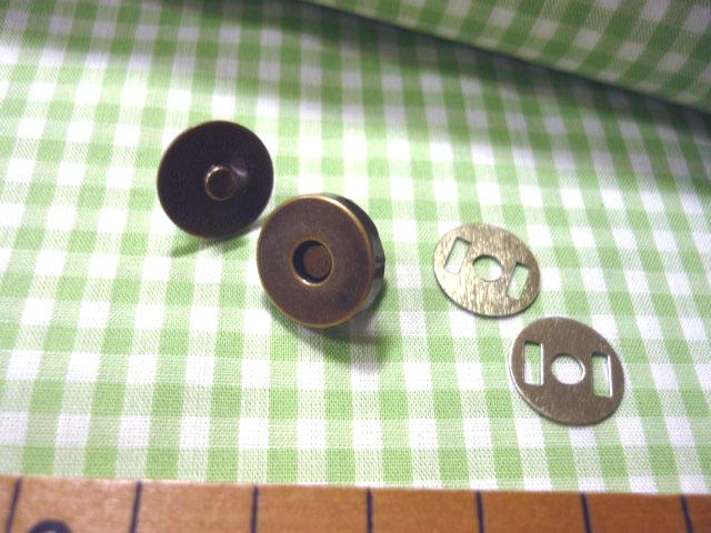 画像2: 【10個セット】マグネットボタン 15mm 2色よりお選び下さい。
