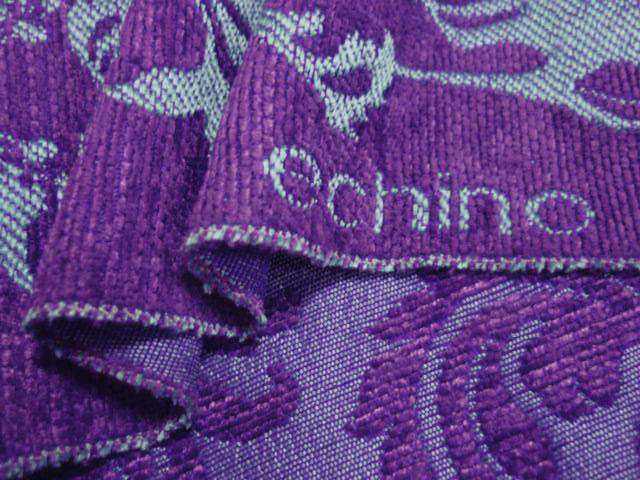 画像2: 【ジャガード】082119■約35cmハギレ クラシックアニマルズ 紫 echino