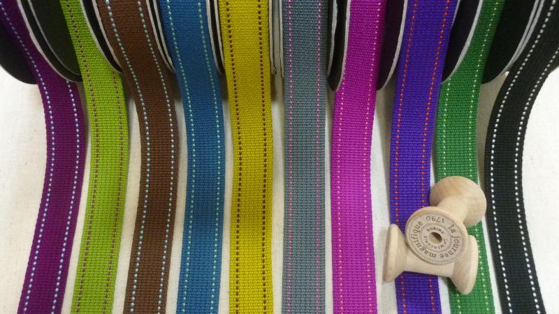 画像1: echino ステッチテープ2.5cm幅 【全10色あり】