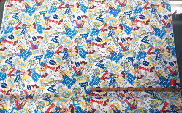 画像2: 【キルト】12467■約38cmハギレ 2014トイストーリー Cowboy&Ranger柄 ウッディーとバズ 【ディズニー】