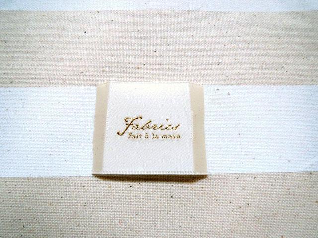画像1: ファブリックス縫いつけタグ(アイボリー)10枚セット