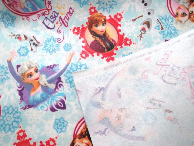 画像2: 【ラミネート】080600■約28cmハギレ アナと雪の女王・エルサとアナ ディズニープリンセス