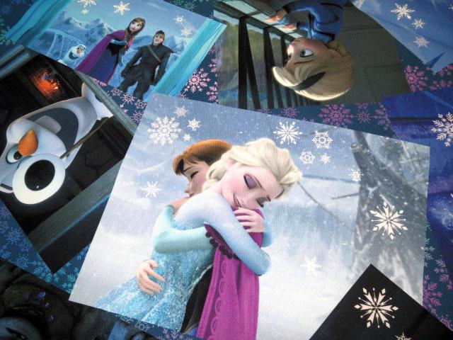 画像1: 【オックス】082422■約95cmハギレ★アナと雪の女王 名シーン柄 デジタルプリント ディズニー