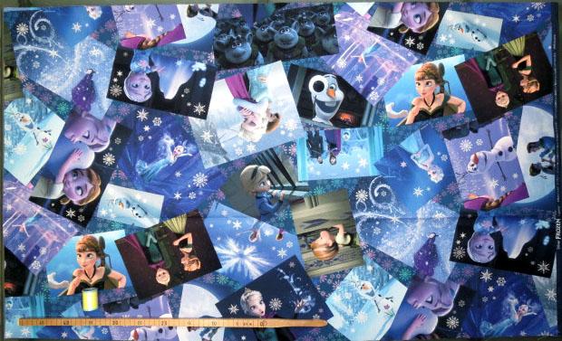 画像2: 【オックス】082422■約95cmハギレ★アナと雪の女王 名シーン柄 デジタルプリント ディズニー