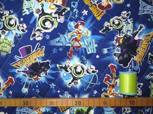 画像2: 【キルト】022703■約45cmハギレ トイストーリー アニメーション柄 青地 ディズニー