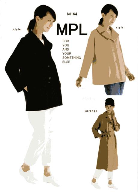 画像1: §【型紙】 mパターン研究所 ワイドカラーAラインジャケット(大人女性用)