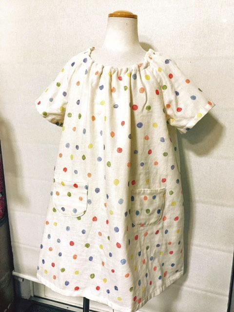 画像1: 【型紙】スモックワンピース 女児 (110cm)