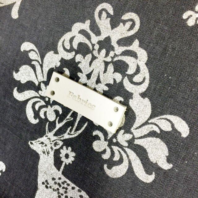 画像1: ファブリックスロゴ革タグ白 縫いつけタイプ5枚セット