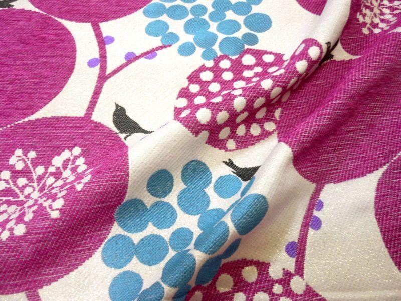 画像3: 【ジャガード】041802■約75cmハギレ ビッグベリー  ピンクの実 echino2013