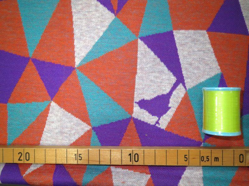 画像2: 【ニット】101900■約60cmハギレ モザイク A サーモン&パープル  echino