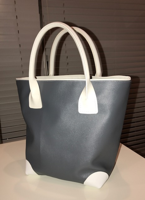 画像2: 【合成皮革スタンダードトートバッグSサイズ「Y-23」材料キット】◆表布約35cm※裏布は含まれておりません