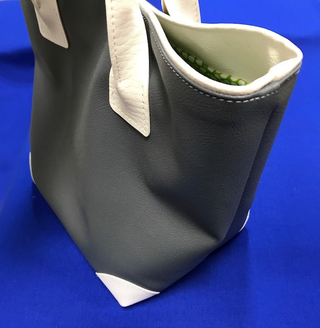 画像3: 【合成皮革スタンダードトートバッグSサイズ「Y-23」材料キット】◆表布約35cm※裏布は含まれておりません