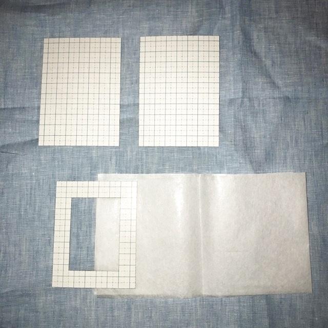 画像2: §【メール便OK】カードケース材料(1個分)台紙&ホットメルト紙