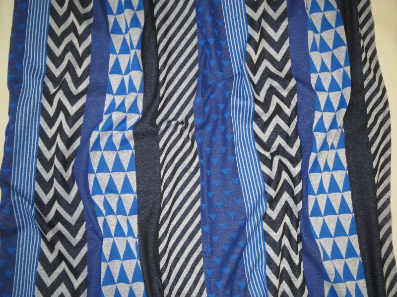 画像1: 【ニット】111501■約50cmハギレ ブロック  ブルー系 echino