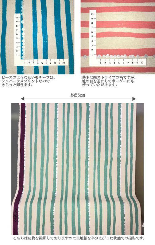 画像3: 【綿麻キャンバス】◎約50cm×約50cm 4色セット ストライプ echino2018 stripe