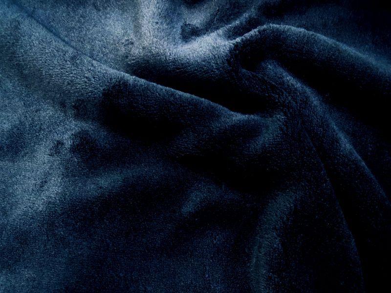 画像1: 【フリース】122901■約70cmハギレ マイクロファーフリース 紺無地 ネイビー