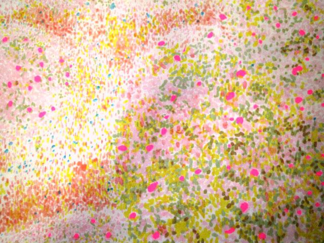 画像1: 【ダブルガーゼ】0612202■約120cmハギレ バーズアイ らんまんピンク地 naniIRO