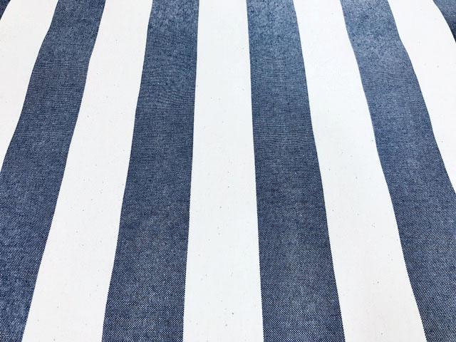 画像1: 【11号ハンプ】042907■訳あり約30cmハギレ 先染め太ストライプ 紺 高島帆布