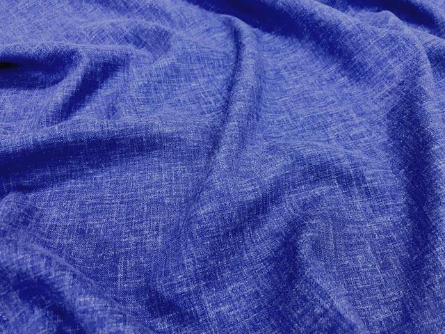 画像1: 【リネン】061224■約1.7mハギレ 無地 ベルギー レーヨンリネン D ブルー