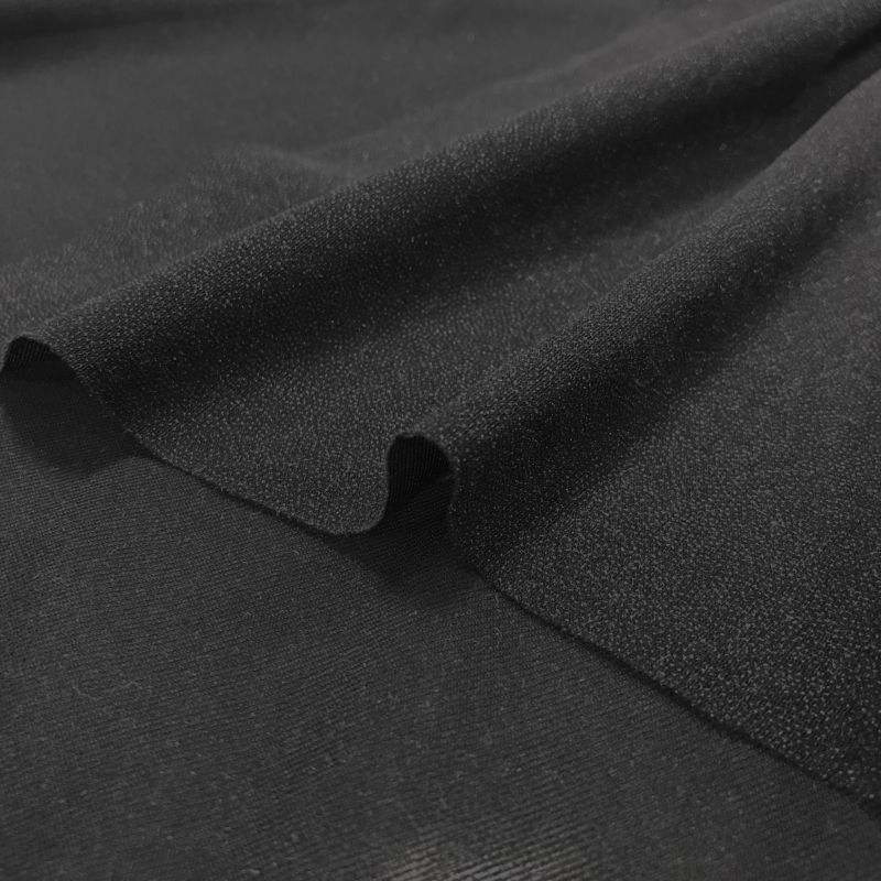 画像1: ◆約1mハギレ 薄手お洋服用の黒ストレッチ接着芯