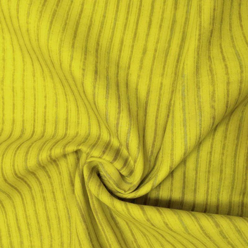 画像2: 【ダブルガーゼ】082806■約68cmハギレ  アンティークストライプ 黄色 CAMINO naniIRO2018