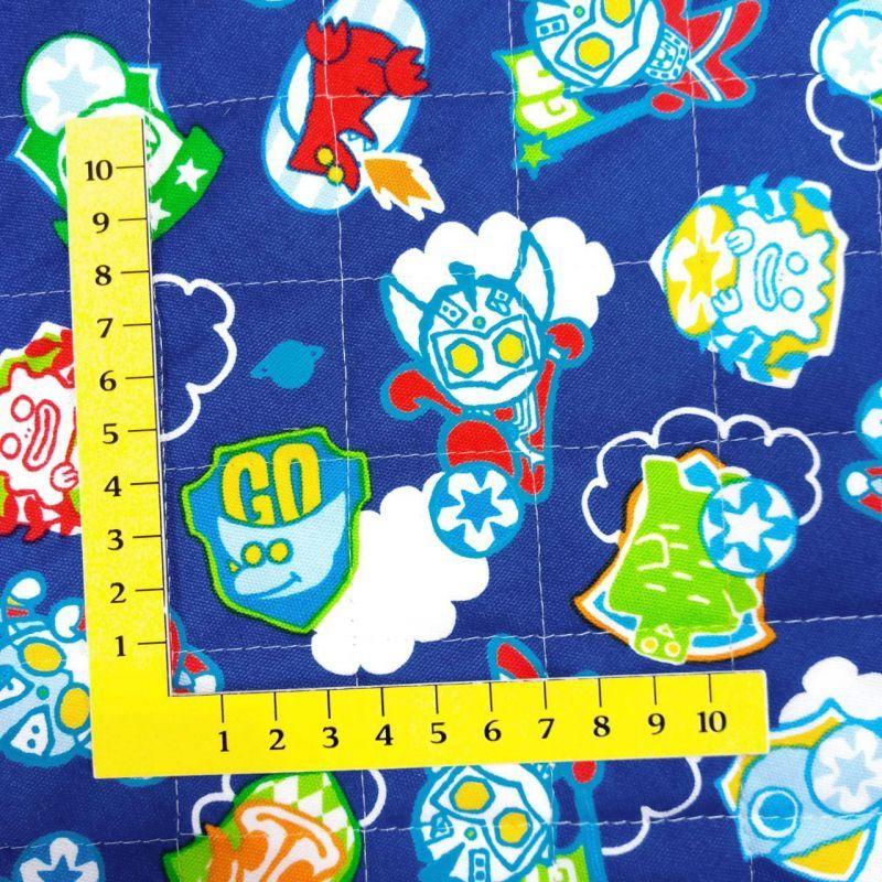 画像2: メール便OK【キルト】090101■約48cmハギレ ウルトラマン デフォルメサッカーブルー