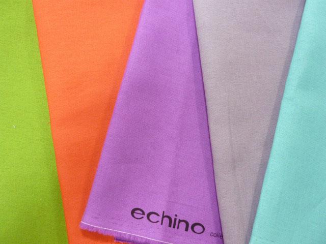 画像3: 【綿麻キャンバス】◎約50cm×約50cm 5色セット echino solid 第2弾