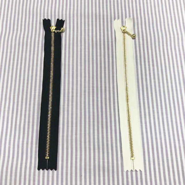 画像3: 【玉つきファスナー】引き手チェーンタイプ 20cm ゴールド金具 片開き『2色』