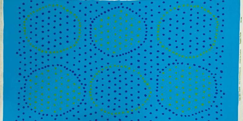 画像2: 【オックス】102506■約58cmハギレ サークルポチョ C.青地×黄緑&紺水玉 Anu Tuominen×Naomi Ito