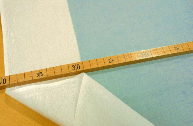 画像1: 【シングルガーゼ】012402■訳あり約1.3mハギレ ツユクサノソラ(水色)naniIRO
