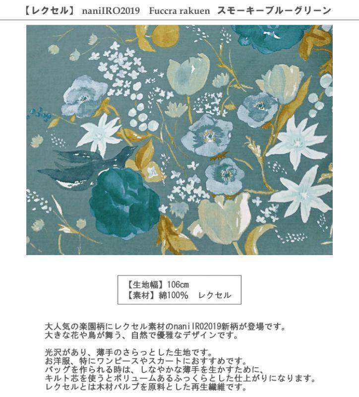 画像2: 【レクセル】フックララクエン サイドボーダー柄naniIRO2019スモーキーブルーグリーンFuccra rakuen