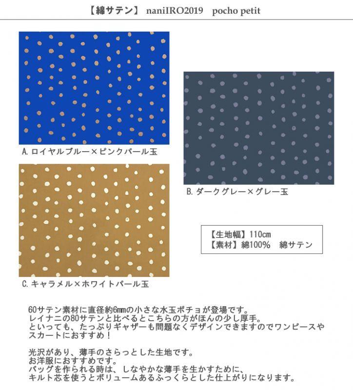 画像2: 【綿サテン】ポチョプチ 水玉 naniIRO2019 pocho petit