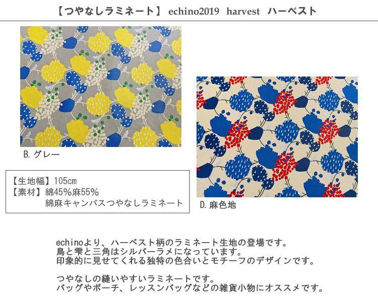 画像2: 【ラミネート】ハーベスト harvest echino2019 2019SS