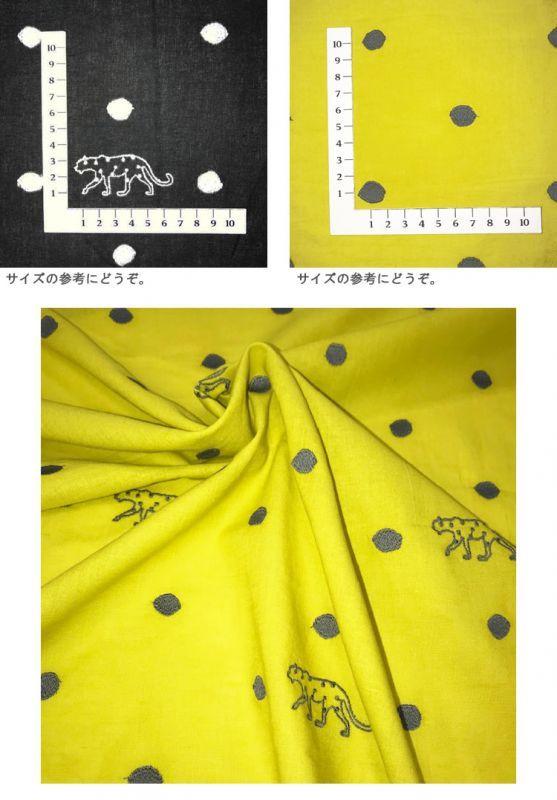 画像3: 【綿麻シーチング】刺繍パンサー PANTHER echino2019 2019SS