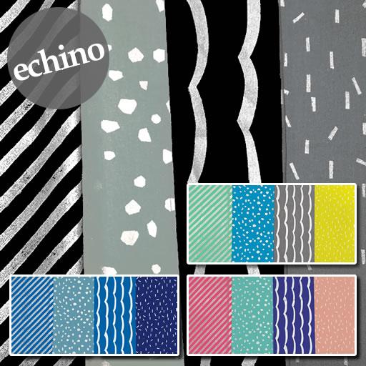 画像1: 【綿麻キャンバス】エチノ ニコ ラメ  パターン echino2019 pattern 2019AW