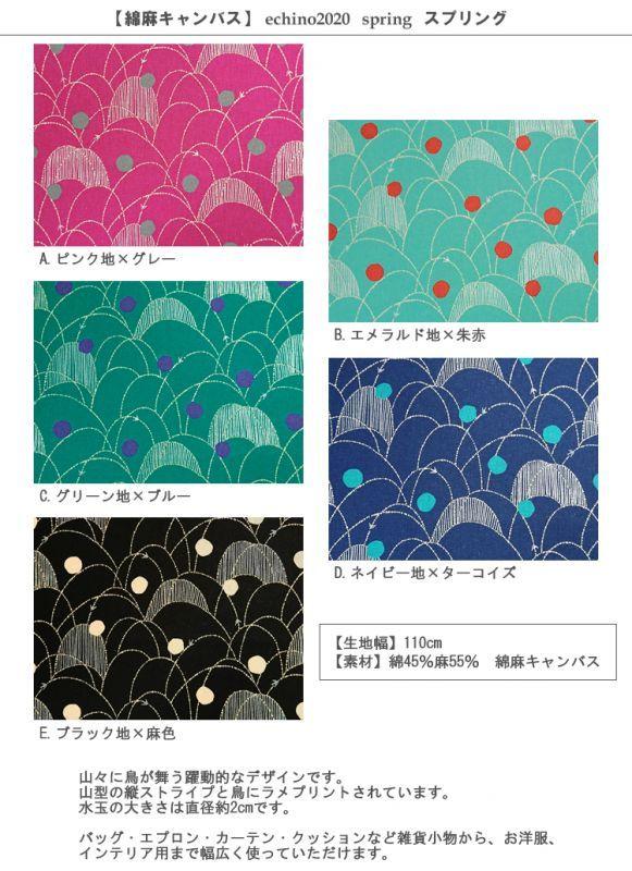 画像2: 【綿麻キャンバス】スプリング spring echino2020 2020SS