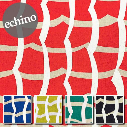 画像1: 【綿麻キャンバス】ワッフル waffle echino2020